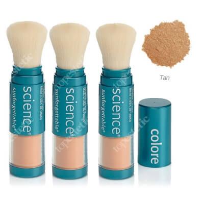 Colorescience Mineral Sunscreen Brush Set ZESTAW Mineralny puder ochronny SPF 50 w pędzlu - kolor Tan 2 + 1 GRATIS