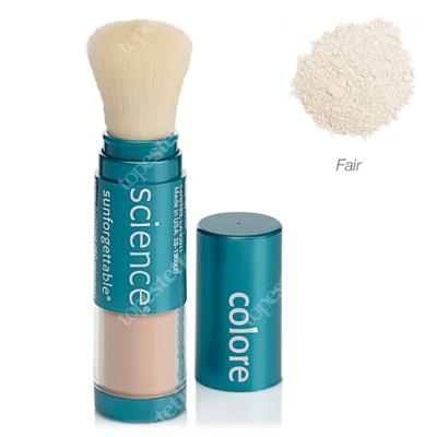 Colorescience Sunforgettable Brush-On Sunscreen Mineralny puder ochronny SPF 50 w pędzlu - kolor Fair 6 g
