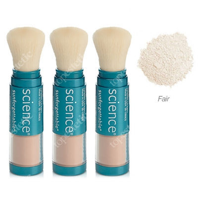 Colorescience Sunforgettable Brush-On Sunscreen Set ZESTAW Mineralny puder ochronny SPF50 w pędzlu - kolor Fair 2 + 1 GRATIS