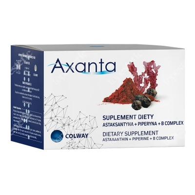 Colway Axanta Suplement diety Astaksantyna + Piperyna + B Complex 60 kaps.