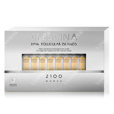 Crescina HFSC Hair Follicular Island 2100 Woman Kuracja stymulująca odrastanie włosów 2100 dla kobiet 20 amp.