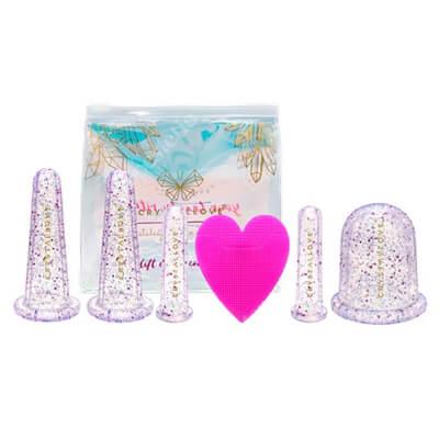 Crystallove Crystalcups Face And Body Zestaw Bańki do masażu twarzy i ciała inspirowane kryształami