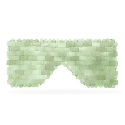 Crystallove Maska na Twarz i Ciało z Jadeitu Maseczka redukuje cienie i opuchliznę wokół oczu 1 szt.