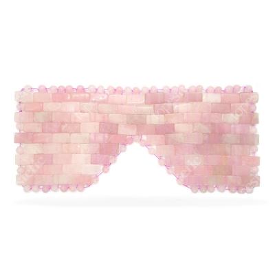 Crystallove Maska na Twarz i Ciało z Kwarcu Różowego Maseczka redukuje cienie i opuchliznę wokół oczu 1 szt.