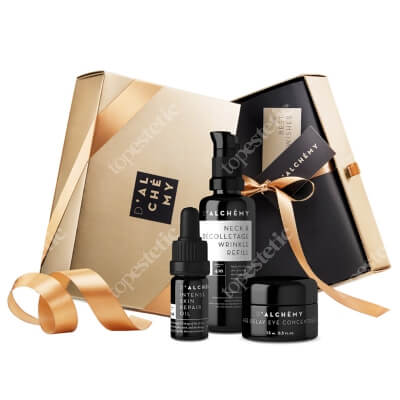 Dalchemy Luxury Skincare Set ZESTAW Wypełniacz zmarszczek do szyi i dekoltu 50 ml + Koncentrat pod oczy 15 ml + Intensywnie regenerujący olejek do twarzy 5 ml
