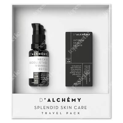 Dalchemy Splendid Skin Care Travel Pack ZESTAW Wypełniacz zmarszczek do szyi i dekoltu 20 ml + Intensywnie regenerujący olejek do twarzy 5 ml