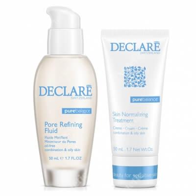Declare Pore Refining Fluid + Skin Normalizing Treatment Cream ZESTAW Żel redukujący wydzielanie sebum i zwężający pory 50 ml + Krem normalizujący do skóry mieszanej i tłustej 50 ml