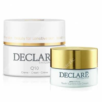 Declare Q10 Age Control Cream + Youth Supreme Eye Cream ZESTAW Q10 Krem napinający skórę, przeciwzmarszczkowy 50 ml + Młodzieńcza doskonałość, Krem odmładzający pod oczy 15 ml