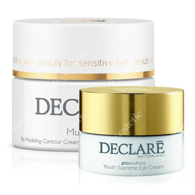 Declare Youth Supreme Eye Cream + Multi Lift Re-Modeling Contour Cream ZESTAW Młodzieńcza doskonałość, Krem odmładzający pod oczy 15 ml + Krem napinający kontury twarzy 50 ml