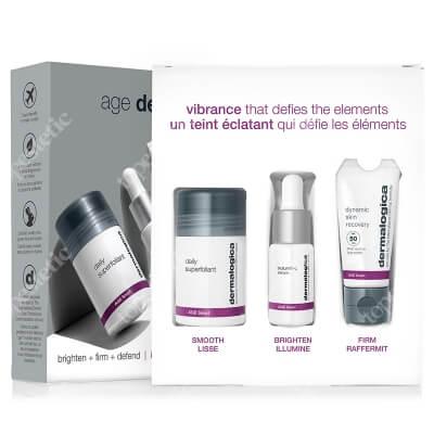 Dermalogica Age Defense ZESTAW Ochronny krem regenerujący z filtrem 12 ml + Rozjaśniające serum z witaminą C, 10 ml + Wysoce aktywny puder złuszczający 13 g