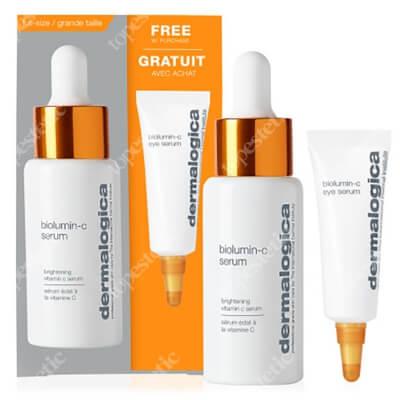 Dermalogica BioLumin-C Box ZESTAW Rozjaśniające serum z witaminą C 30 ml + Energizujące serum wokół oczu z witaminą C 15 ml