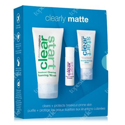 Dermalogica Clearly Matte ZESTAW Oczyszczający i odświeżający żel 75 ml + Krem nawilżający SPF30 15 ml + Serum likwidujące wypryski 10 ml