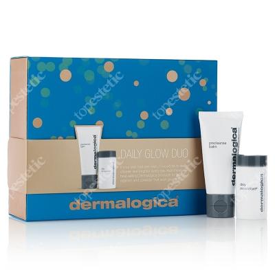 Dermalogica Daily Glow Duo ZESTAW Enzymatyczny puder ryżowy 4 g + Oczyszczający balsam zmieniający formułę w emulsję 15 ml