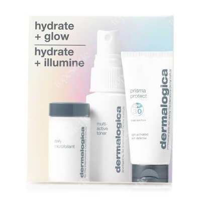 Dermalogica Hydrate & Glow Set ZESTAW Lekka mgiełka nawilżająca 30 ml + Enzymatyczny puder ryżowy 4 g + Wielozadaniowy, nawilżający krem ochronny z SPF30 12 ml