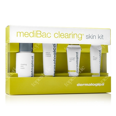 Dermalogica MediBac Clearing Skin Kit ZESTAW Skóra tłusta, trądzikowa - Żel 50 ml, Maska 22 ml, Żel 15 ml, Emulsja 10 ml