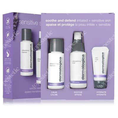 Dermalogica Sensitive Skin Rescue ZESTAW Lekki żel nawilżający 15 ml + Delikatny tonik dla cer bardzo wrażliwych 50 ml + Delikatny żel myjący do twarzy 50 ml