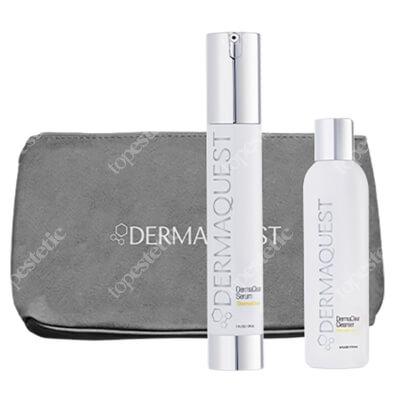 Dermaquest Czysta Skóra ZESTAW Intensywne serum 29,6 ml + Antybakteryjno-enzymatyczny żel do mycia skóry 60 ml + Kosmetyczka 1 szt
