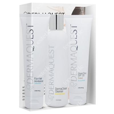 Dermaquest DQ Anti Acne Set ZESTAW Żel do mycia skóry z kwasem migdałowym 60 ml + Krem nawilżająco-odżywczy 30 ml + Krem BB 30 ml