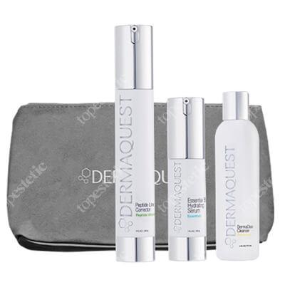 Dermaquest Terapia Botox - Like ZESTAW Korektor zmarszczek 29,6 ml + Serum silnie wygładzające 15 ml + Antybakteryjny żel do mycia skóry 60 ml + Kosmetyczka 1 szt