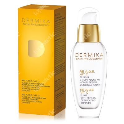 Dermika Skin Philosophy RE A.G.E. Vit. C - Elixir With Deglycation Eliksir z peptydowym kompleksem deglikacyjnym 30 ml