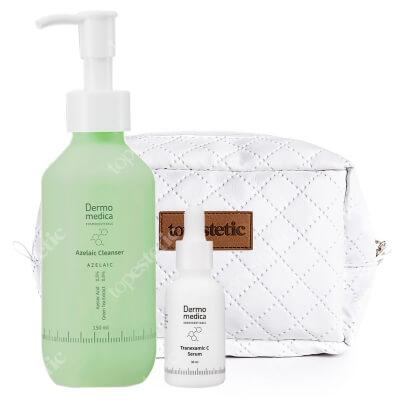 Dermomedica Blask Bez Podrażnień ZESTAW Serum depigmentacyjne i przeciwstarzeniowe 30 ml + Żel do mycia z kwasem azelainowym 177 ml + Kosmetyczka 1 szt