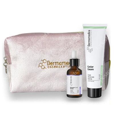 Dermomedica Pielęgnacja Skóry Suchej ZESTAW Aktywne serum z witaminą C i E i kwasem ferulowym 30 ml + Krem z ekstraktem z kawioru 60 ml
