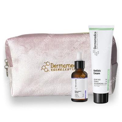 Dermomedica Pielęgnacja Skóry Problematycznej, Tłustej ZESTAW Aktywne serum z witaminą C, floretyną i kwasem ferulowym 30 ml + Krem z kwasem azelainowym 60 ml