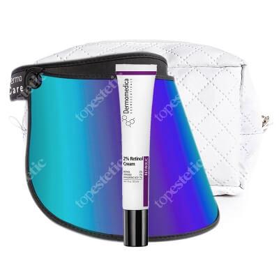 Dermomedica Youth Protector + 2% Retinol Cream ZESTAW Przyłbica fotoprotekcyjna - ochrona przed promieniowaniem UVA, UVB, HEV 1 szt + Krem z 2% retinolem 30 ml + Kosmetczka