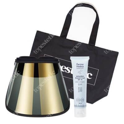 Dermomedica Zestaw Wakacyjny ZESTAW Przyłbica fotoprotekcyjna - ochrona przed promieniowaniem UVA, UVB, HEV 1 szt + Krem antyoksydacyjny z filtrem 60 ml