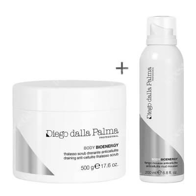 Diego Dalla Palma Draining Anti Cellulite Thalasso Scrub + Anticellulite Mud Mousse ZESTAW Antycellulitowy scrub 500 ml + Antycellulitowa pianka błotna 200 ml