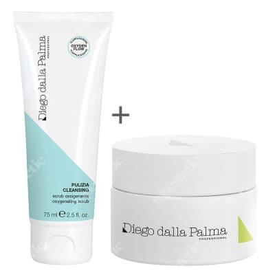 Diego Dalla Palma Oxygenating Scrub + 24H Matifying Anti Age Cream ZESTAW Scrub natleniający 75 ml + Matujący krem przeciwstarzeniowy 50 ml