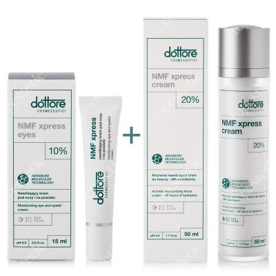 Dottore NMF Xpress Cream + NMF Xpress Eyes ZESTAW Aktywnie nawilżający krem do twarzy 50 ml + Aktywnie nawilżający krem pod oczy 15 ml