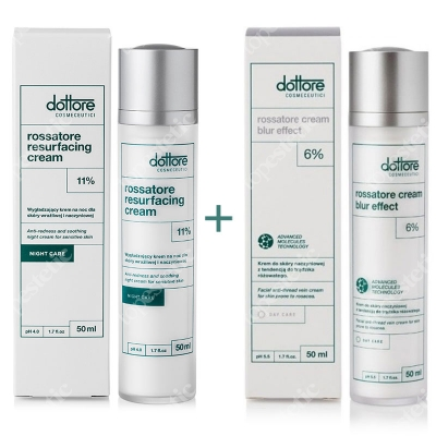 Dottore Rossatore Cream Blur Effect + Rossatore Resurfacing Cream ZESTAW do cery naczyniowej 50 ml + 50 ml