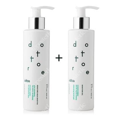Dottore Sensitore Gel + Sensitore Aqua Sensitive ZESTAW Oczyszczający żel do mycia twarzy 200 ml + Płyn micelarny dla skóry wrażliwej 200 ml