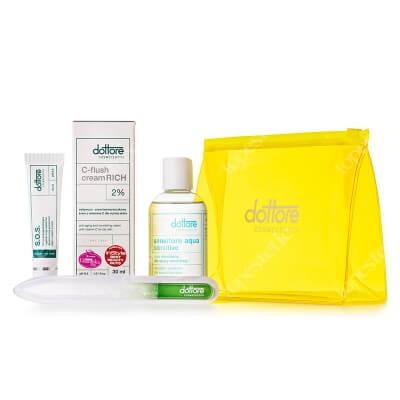 Dottore Summer Set C-Flush ZESTAW Krem przyspieszający regenerację naskórka 15 ml + Oczyszczający żel 100 ml + Odżywczo-przeciwzmarszczkowy krem 30 ml