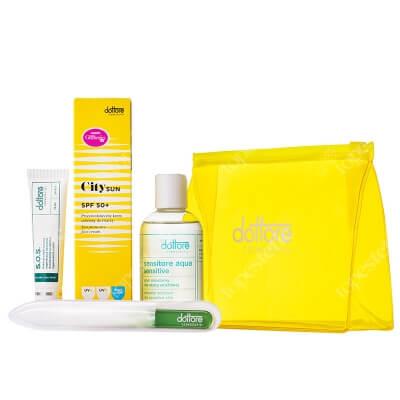 Dottore Summer Set City Sun ZESTAW Krem przyspieszający regenerację naskórka 15 ml + Oczyszczający żel 100 ml + Krem przeciwsłoneczny SPF50+ 50 ml