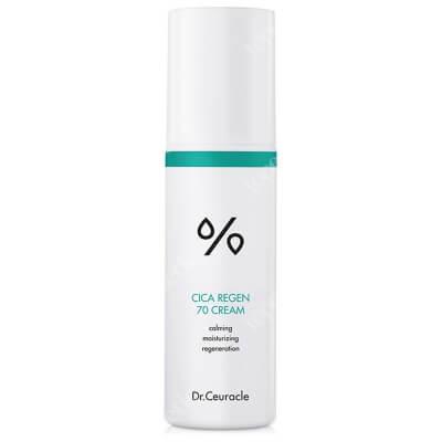 Dr Ceuracle Cica Regen 70 Cream Lekki krem na bazie 70% ekstraktu z wąkroty azjatyckiej. Intensywnie regeneruje i łagodzi skórę 50 ml
