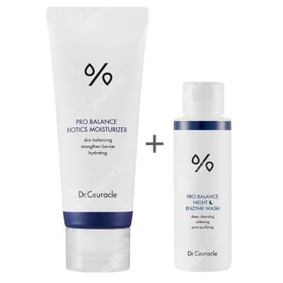 Dr Ceuracle Pro Balance Night Enzyme Wash + Pro Balance Biotics Moisturizer ZESTAW Proszek na bazie enzymu do wieczornego mycia twarzy 50 g + Łagodny, lekki krem nawilżający dla każdego rodzaju skóry 100 ml