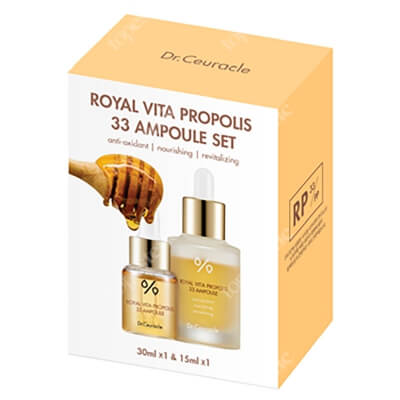 Dr Ceuracle Royal Vita Duo Set ZESTAW Ampułka z ekstraktem z propolisu i ekstraktem z mleczka pszczelego 15 ml + 30 ml