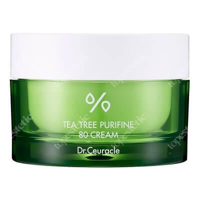 Dr Ceuracle Tea Tree Purifine 80 Cream Lekki nawilżający krem zawierający aż 80% ekstraktu z drzewa herbacianego i olej z liści drzewa herbacianego 50 g