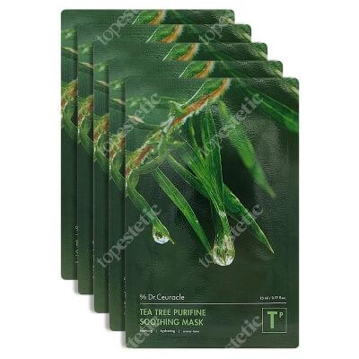 Dr Ceuracle Tea Tree Purifine Soothing Mask 5 Pack Łagodząco-kojąca maseczka w płachcie na bazie wyciągu z drzewa herbacianego 23 ml/ 5 szt.