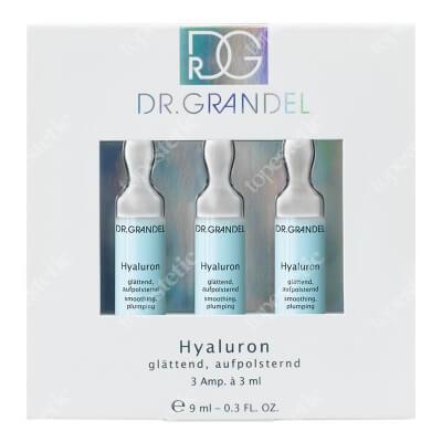 Dr Grandel Hyaluron Ampułka intensywnie nawilżająca, ujędrniająca i wygładzająca 3x3 ml