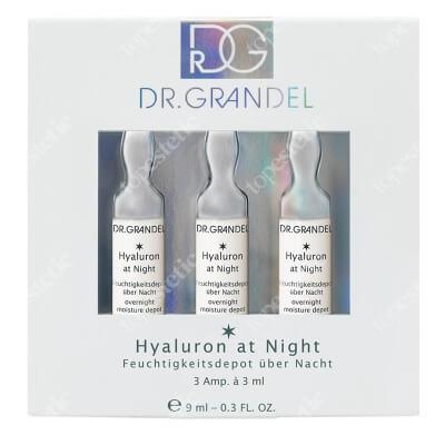 Dr Grandel Hyaluron at Night Ampułka z kwasem hialuronowym Depot: długotrwałe, głębokie nawilżenie 3x3 ml