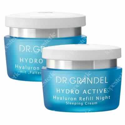 Dr Grandel Hyaluron Refill Set ZESTAW Krem nawilżający z kwasem hialuronowym 24h, 50 ml + Krem z kwasem hialuronowym nawilżająco-ujędrniający na noc 50 ml