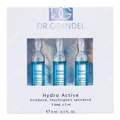Dr Grandel Hydro Active Ampułka nawilżająco-rewitalizująca, zawiera kofeinę 3x3 ml