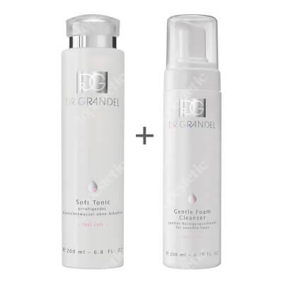 Dr Grandel Soft Tonic + Gentle Foam Cleanser ZESTAW Tonik nawilżająco-łagodzący 200 ml + Delikatna pianka oczyszczająca dla skóry nadwrażliwej 200 ml
