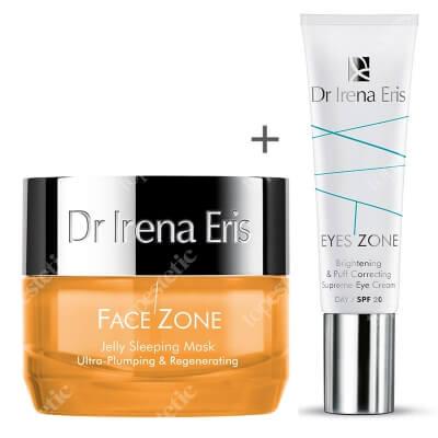 Dr Irena Eris Eyes Zone & Face Zone ZESTAW Żelowa maska ujędrniająca 50 ml + Krem korygujący cienie i obrzęki pod oczami 15 ml