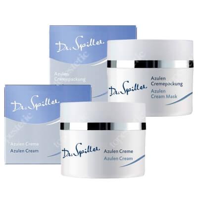 Dr Spiller Azulen Cream + Azulen Cream Mask ZESTAW Łagodzący krem z wyciągiem z rumianku 50 ml + Kremowa maska z bisabololem, olejem sojowym 50 ml