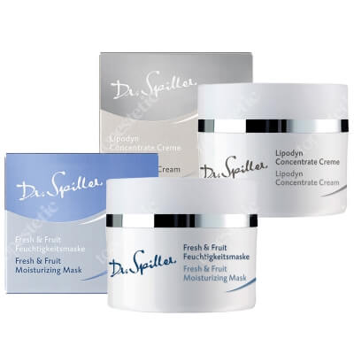 Dr Spiller Lipodyn Concentrate Cream + Fresh & Fruit Moisturizing Mask ZESTAW Odżywczy krem 50 ml + Żelowa maska 50 ml
