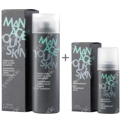 Dr Spiller Manage Your Skin ZESTAW Antyperspirant dla Panów 50 ml + Energetyzujący szampon do ciała i włosów 200 ml